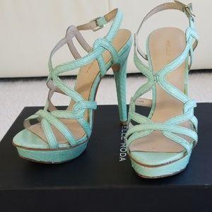 Aqua platform sandals
